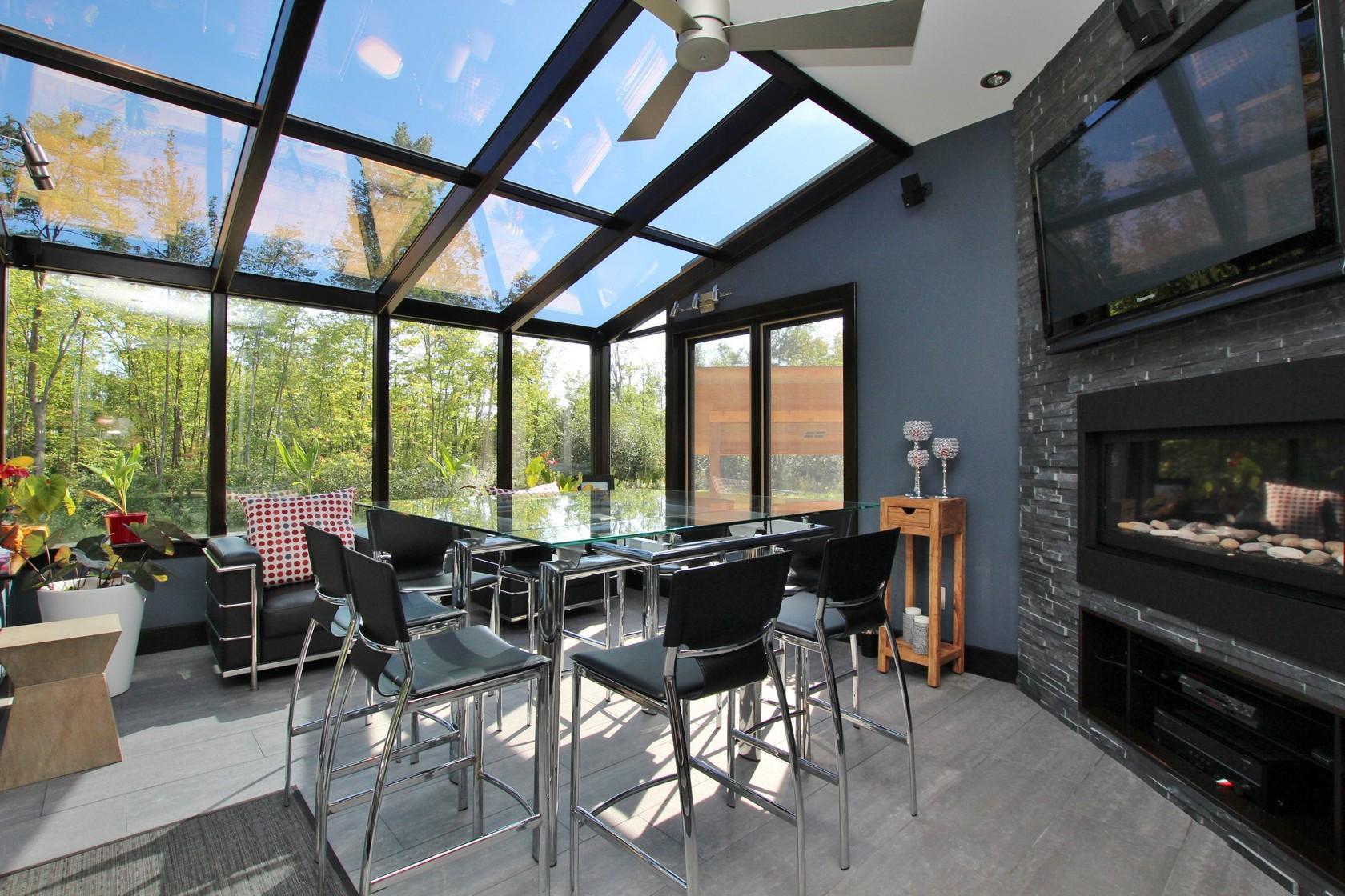 Custom Home Sunroom
